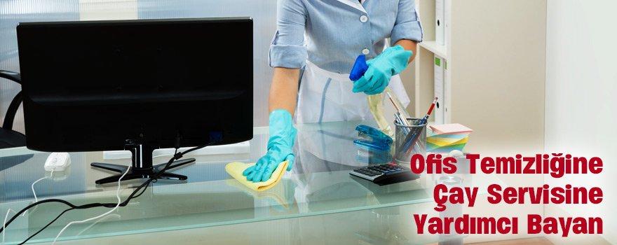 ofis temizliğine yardımcı bayan